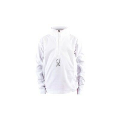 Polaire Enfant Spyder  Bitsy Chloe Velour White Fleece T-neck