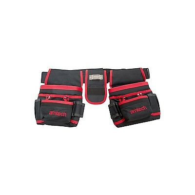 New DOUBLE TOOL AND NAIL POUCH Hammer and Measure Tape Holder Builders Work UK