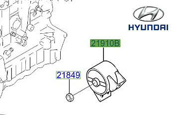 Genuine Hyundai Accent Front Lower Engine Mount - 2191025010
