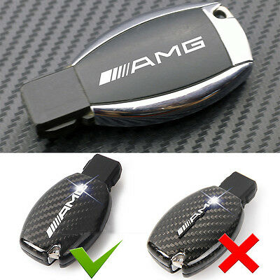2 Ps AMG Alloy Silver Key Fob Badge Decal Adhesive Sticker For All Mercedes Benz