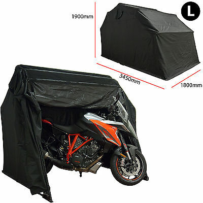 Motorcycle Bike Outdoor Weather Protection Scooter Cover Shelter Garage Large