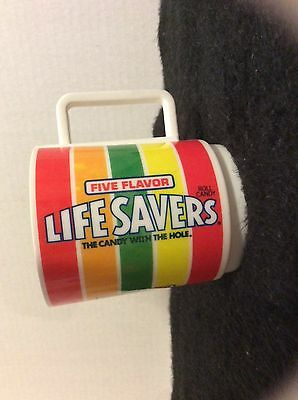 Vintage Deka Lifesavers Plastic Collectable Candy Advertising  Mug Cup