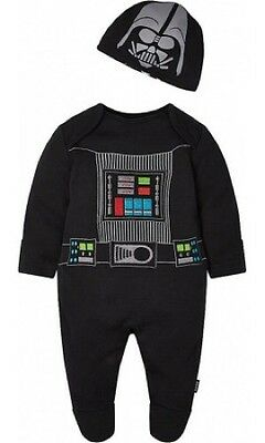 Star Wars Darth Vader Babygrow sleepsuit Romper 6-9 Month BNWT The Force Awakens