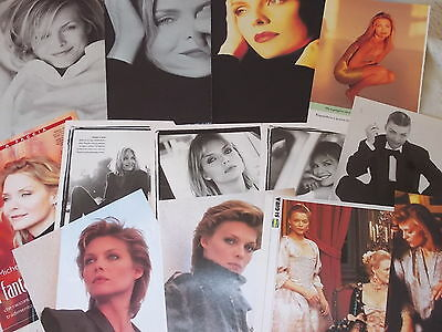 MICHELLE PFEIFFER 1988-2000_italian clippings_lotto di articoli da riviste