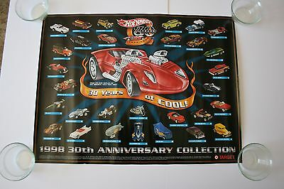 HotWheels Store display poster 1998 30th Anniversary Poster Target Display Rare
