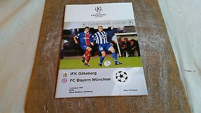 Official Programme football CL 1997 IFK Gothenburg Bayern Munchen Germany