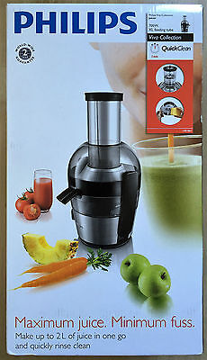 Philips HR1867/21 Viva Collection Quick Clean Juicer - Brushed Aluminium New
