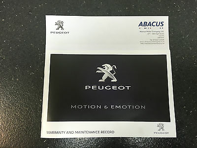 Genuine Peugeot Service History Book Warranty & Maintenance Records