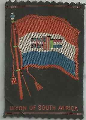RARE Tobacco (Egyptienne Luxury) Flag of South Africa - 100+ Yrs Old  BLACK BACK