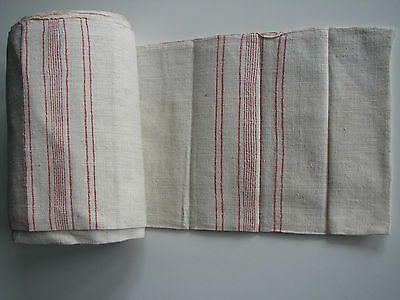 Antique authentic homespun fabric old handwoven natural organic 11.8 yards