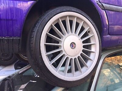 """4x 17"""" ALPINA STYLE ALLOY WHEELS 4 STUD 4x100 MULTIFIT WITH GOOD TYRES"""