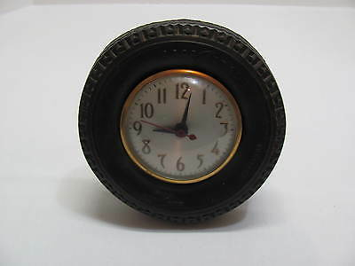 Vintage 6'' Good Year Rubber Tire Clock With Movement By Sessions
