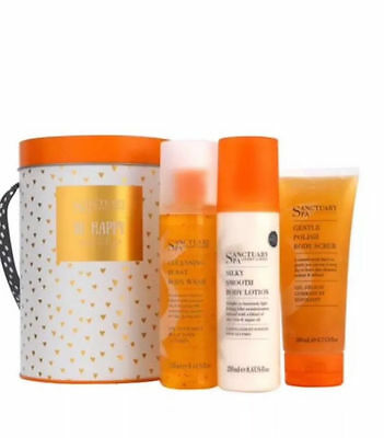 Sanctuary Spa BE HAPPY AND LET GO Shower Must Haves Gift Set BNIB