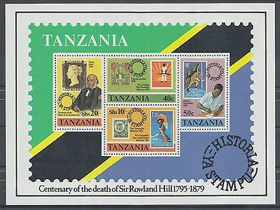 XG-K714 TANZANIA - Rowland Hill, 1979 Stamp On Stamp, Penny Black MNH Sheet