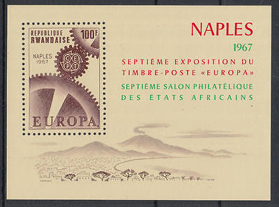 XG-K757 RWANDA - Europa Cept, 1967 Naples Philatelic Exhibition MNH Sheet