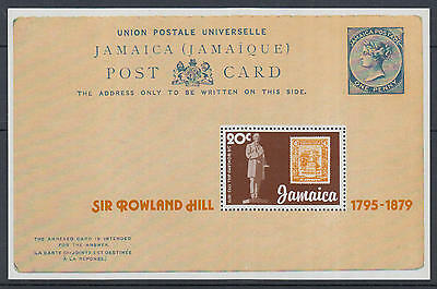 XG-K799 JAMAICA IND - Rowland Hill, 1979 Stamp On Stamp, Postcard MNH Sheet