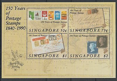 XG-K801 SINGAPORE IND - Stamp On Stamp, 1990 150Th Anniv. Of Stamps MNH Sheet