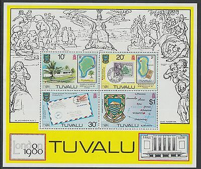 XG-K862 TUVALU - Stamp On Stamp, 1980 London '80 Exhibition MNH Sheet