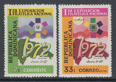 XG-K893 DOMINICAN REP. - Stamp On Stamp, 1972 1St Philatelic Expo MNH Set