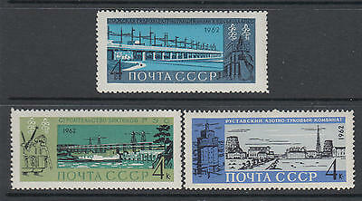 XG-V917 RUSSIA - Architecture, 1962 Ships, Construction MNH Set