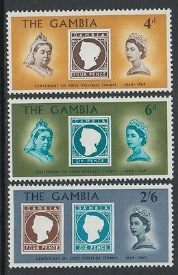 XG-K900 GAMBIA IND - Stamp On Stamp, 1969 Centenary Of 1St MNH Set