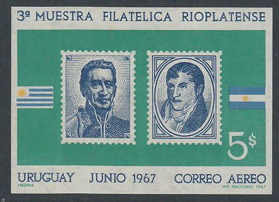 XG-K905 URUGUAY - Stamp On Stamp, 1967 3Rd Rioplatense Philatelic Expo MNH Sheet