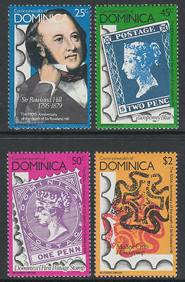 XG-K929 DOMINICA IND - Stamp On Stamp, 1979 Rowland Hill MNH Set