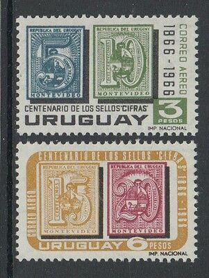 XG-K950 URUGUAY - Stamp On Stamp, 1966 Centenary Of Cifras Stamps MNH Set