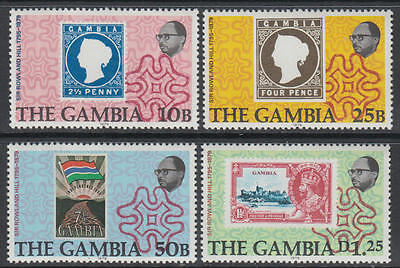 XG-K978 GAMBIA IND - Stamp On Stamp, 1979 Rowland Hill, 4 Values MNH Set