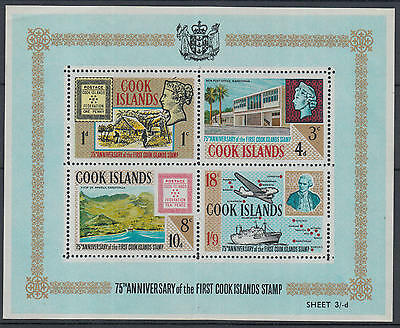 XG-L189 COOK ISLANDS IND - Stamp On Stamp, 1967 75Th Anniv. Of 1St MNH Sheet