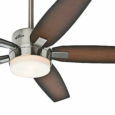 Hunter Fan 54 inch Contemporary Brushed Nickel Ceiling Fan - with Remote Control