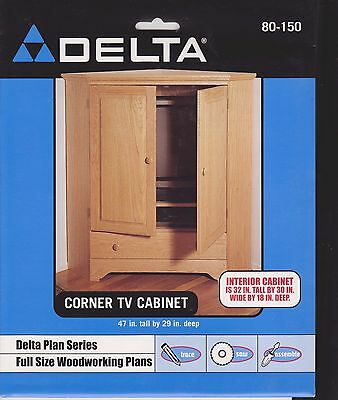 Delta Woodworking Plans Corner TV Cabinet 47 in. tall x 29 inches deep X 30 wide