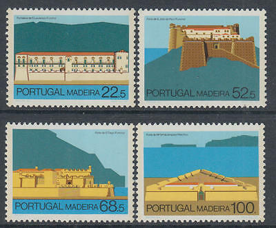 XG-L497 MADEIRA - Architecture, 1986 Fortifications, Castles MNH Set