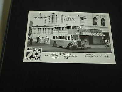 Pamlin Prints M2524, INTO THE 'SIXTIES, Route 42 at South Parade, Southsea 1960