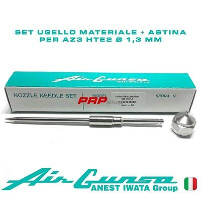 Set Ugello Materiale + Astina per Air Gunsa AZ3 HTE2 - Nozzle Needle Set 1.3 mm