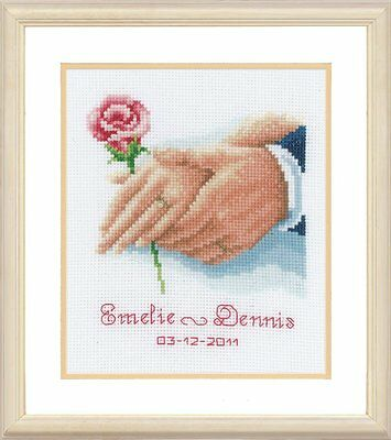 Vervaco - Counted Cross Stitch Kit - Wedding Record - Holding Hands 200270.338