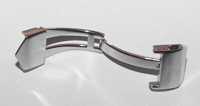 Stainless Steel 16 mm Deployment Clasp - to fit TAG Heuer models listed below