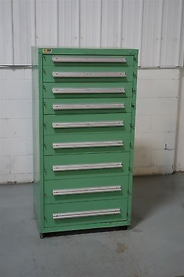 Used Vidmar 9 Drawer Cabinet Shallow Depth Industrial Tool Storage #858