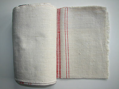 Antique authentic homespun fabric old handwoven natural organic 6 yards