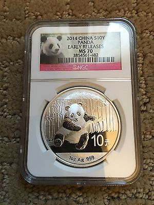 NGC 2014 Chinese 1oz Silver Panda MS70 Early Release