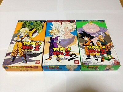 Lot 3 DRAGON BALL Z Super Butouden 1 2 3 Complete in Box Japan Super Famicom