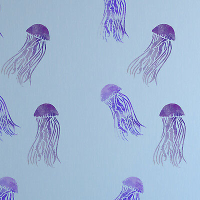 Mauve Stinger Jellyfish Stencil - Sea Themed Craft /Tile /Wall Template