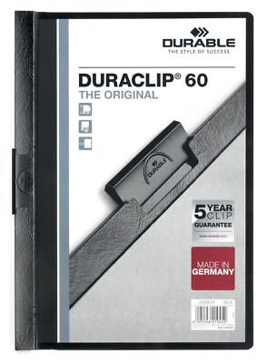 Durable Duraclip 60 - A4 Clip File 6mm  - Black - Pack of 25