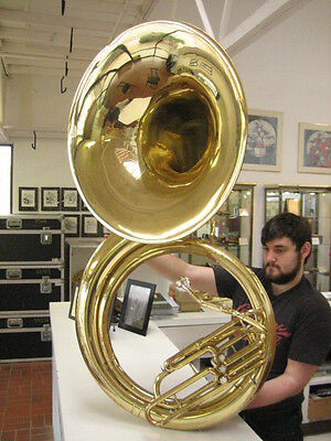 GOOD JUPITER BBb BRASS SOUSAPHONE, NO DENTS, CLEAN, READY TO PLAY, WITH CASE!