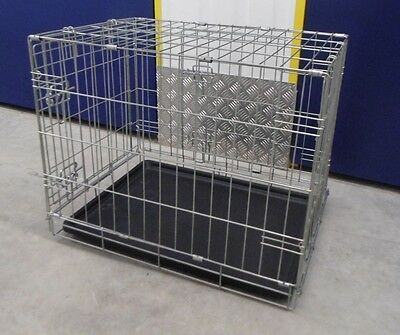 Brand New Pet Cat Dog Small Travel Cage Removable Tray Folding Crate Carrier
