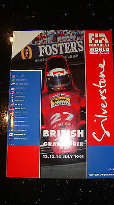 Official Fi Grand Prix Programme - British Gp 1991 - Signed - With Race Card