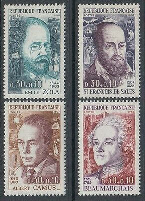 XG-K306 FRANCE - Red Cross, 1967 In Favor, Famous Personalities MNH Set