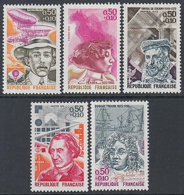 XG-K310 FRANCE - Red Cross, 1973 In Favor, Famous Personalities MNH Set