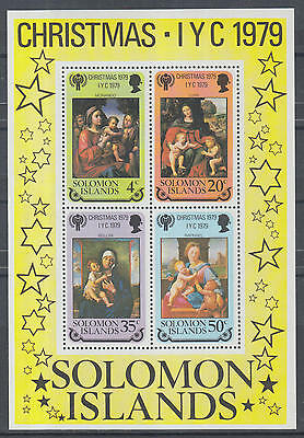 XG-K425 SOLOMON ISLANDS IND - Paintings, 1979 Christmas, Child Year MNH Sheet