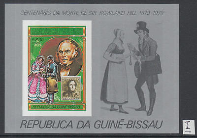 XG-K519 GUINEA-BISSAU - Rowland Hill, 1979 Stamp On Stamp, 5P Imperf. MNH Sheet